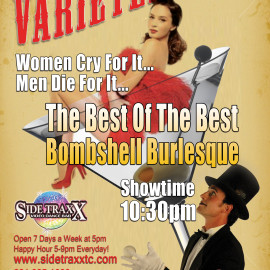 July 18, 2014 – The Bayside Bombshells Present – The Best of The Best – Varietease – at SideTraxx Bar in Traverse City MI