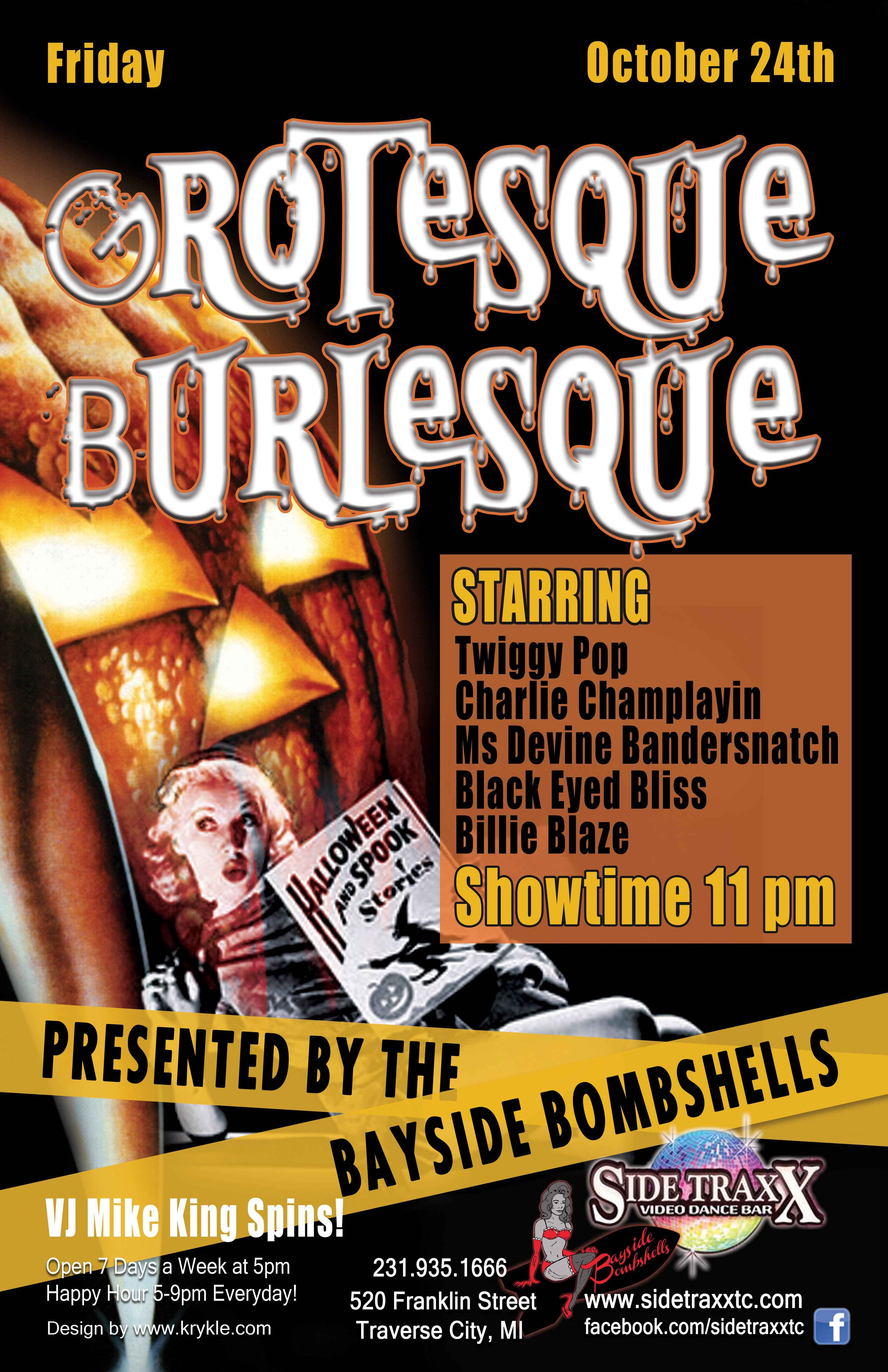 WEB Grotesque Burlesque - 2014 - Bayside Bombshells - Design by Krykle LLC