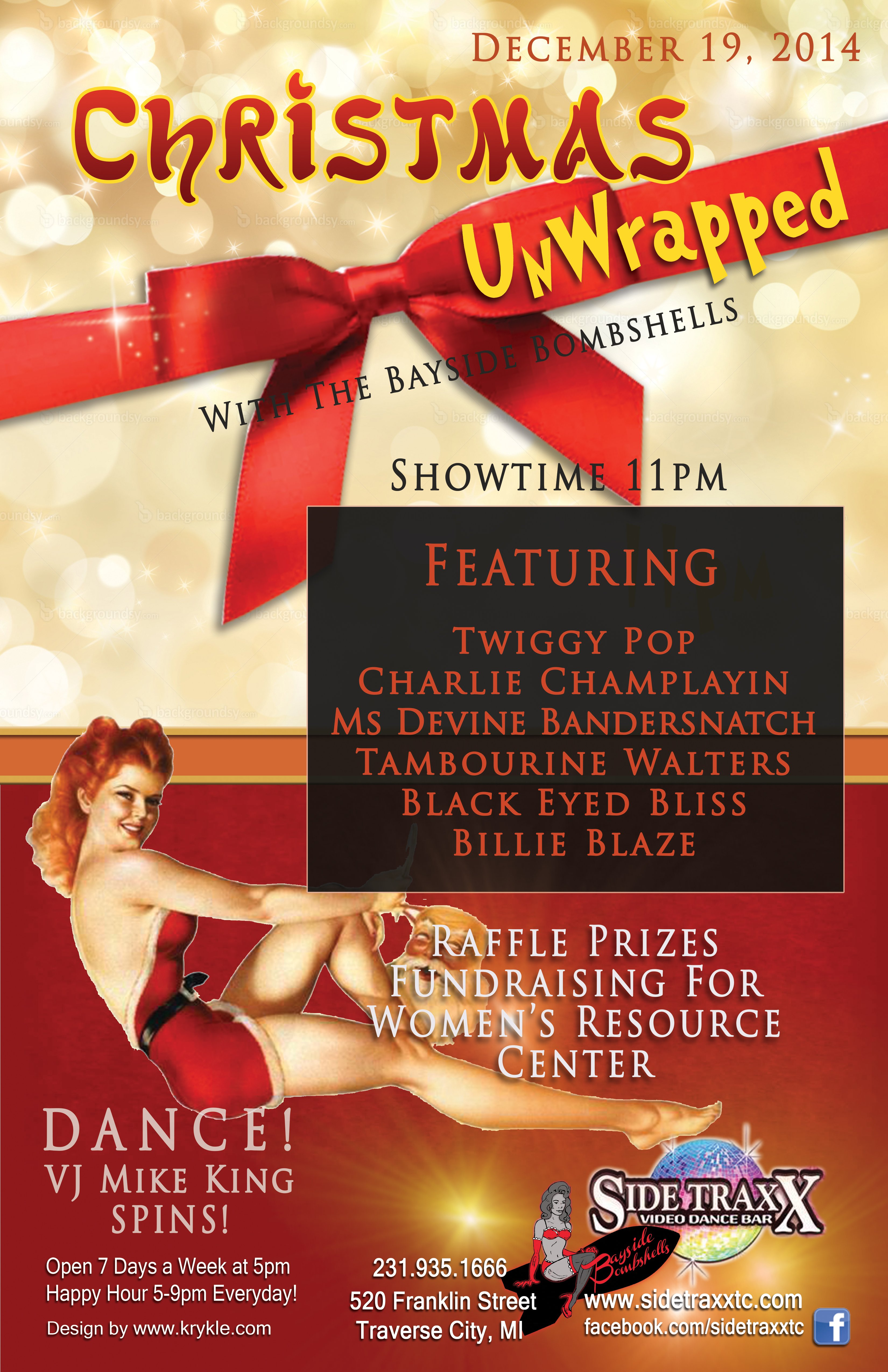 WEB Friday - Dec 19 2014 - Christmas with the Bombshells - Design by Krykle LLC