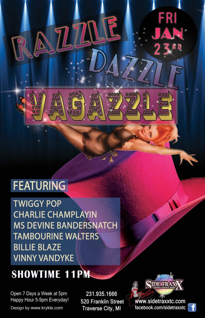 WEB Razzle Dazzle Vagazzle - Burlesque - Jan 23 - SideTraxx Bar - Krykle LLC