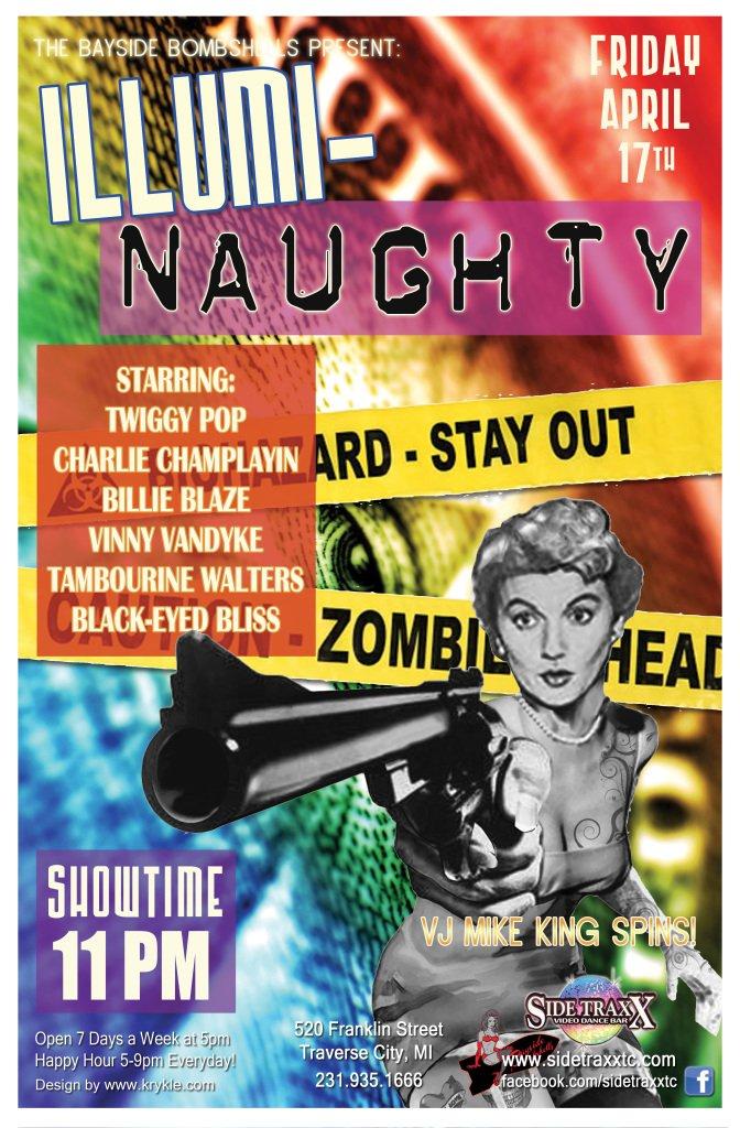WEB Illumi-Naughty Bayside Bombshells Burlesque - April 17 2015 Friday - Design by Krykle LLC - SideTraxx Bar