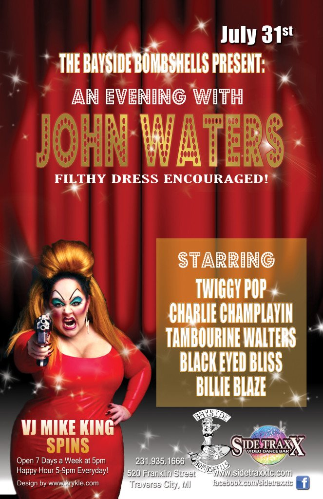 WEB Bayside Bombshells An Evening with John Waters -SideTraxx Bar